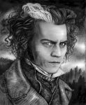 Sweeney Todd Black and White by kristymariethomas