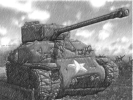 U.S. Sherman Tank from WWII by So-What-85
