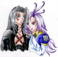 Kuja and Sephiroth by taostrife