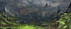 The sky in the Imperial Province Ostvil by Gin-sensei