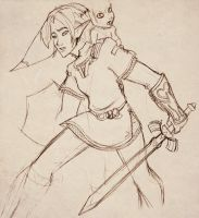 Link and Midna by scaragh