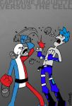 Capitaine Baguette Vs The Cell by striffle