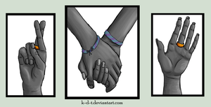 Holding Hands Triptych by k-d-t