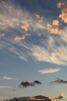 Pink Clouds Blue Sky 01 by Thy-Darkest-Hour