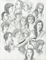 observation sketches by NeedleToTheGroove