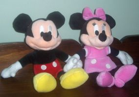 Mickey and Minnie Mouse Plush by ChipmunkRaccoon2