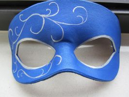 Simple Blue Masquerade mask by maskedzone