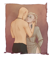 Commission: Khaen and Solas by Nikranel