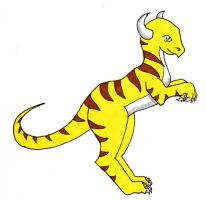 Yellow Dino by moatswimmer-inugrl