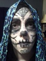 Day of the Dead Practice Makeup 2 by Pandachu123