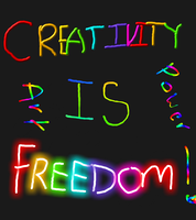 creativity is freedom #2 by kindredspirit123