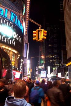times square at Midnight by wildernessfluff