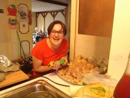 CUTTING THE TURKEY! LOL by lisabean