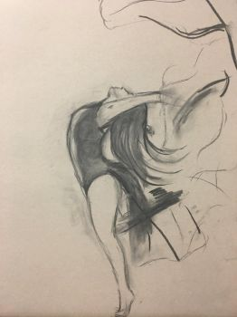 Charcoal Study by TwinWaters