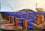 Pelican at the Pier by Stitchwich