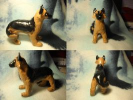 German Shepherd Sculpture by Angelwolf778