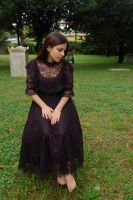 Girl in Cemetery 9 by InTenebris-Stock
