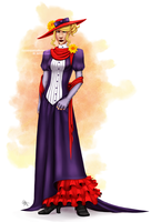 Red Hat Lady by marshmellowbrains