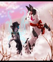 Dashing through the snow... by Blackwolfpaw