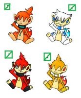chimchar adoptables1 closed by Pikachim-Michi
