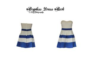 Strappless Dress Stock by FQPhotography