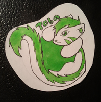 Toba ball badge by anne-t-cats