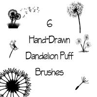 Dandelion Puff Brushes by DesiraeR