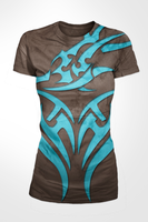 Blue and Brown Tats Shirt by karatealive