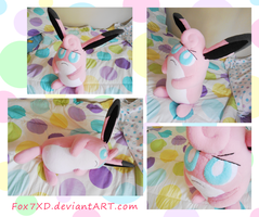 Custom Wigglytuff Plush by Fox7XD