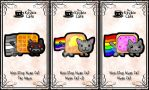 non-stop nyan cat keybies by silverei