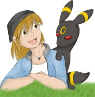 Nora and Umbreon by ViolePandora