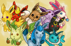 Eeveelution by frozentofu