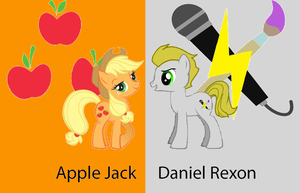 Apple Jack and Daniel Rexon by RageRex