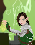 Inquisitor Lavellan by RoseDragonGuardian92