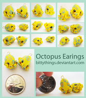 Octopus Earings - SOLD OUT by Bittythings