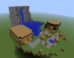 Minecraft - floating island by Unstable-Life