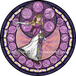 Commission: Stained Glass: Zelda by Akili-Amethyst