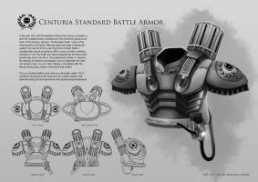 Centuria Standard Battle Armor by jasonwang7