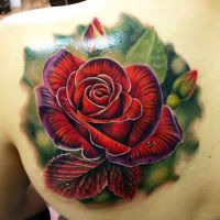 Best realistic rose, Liz Venom bombshell tattoo by LizVenom