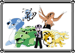 Pokemon Green Final line up by DBurch01