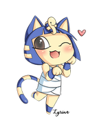 Commission Ankha from ACNL + Speedpaint by ViciScribbles