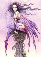Purple fairy ACEO by dark777fairy