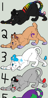 Big Cat Point Adoptables: Open by lucidcoyote