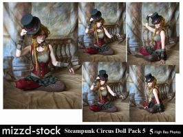 Steampunk Circus Doll Pack 5 by mizzd-stock
