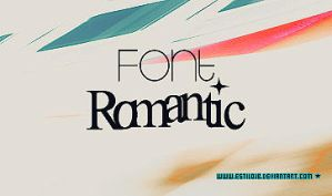 Romantic font by estilojb