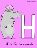 H is for Hare Brained by sebreg