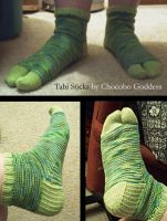 Knitting - Tabi Socks by ChocoboGoddess