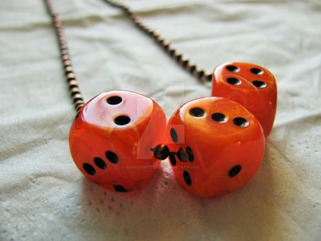 Halloween feel necklace by SomethingTeal