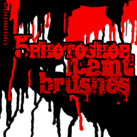5 photoshop paint brushes by Studiom6