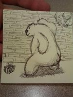 beary bored at work by thatcuban